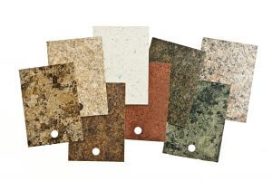 Laminate countertop samples