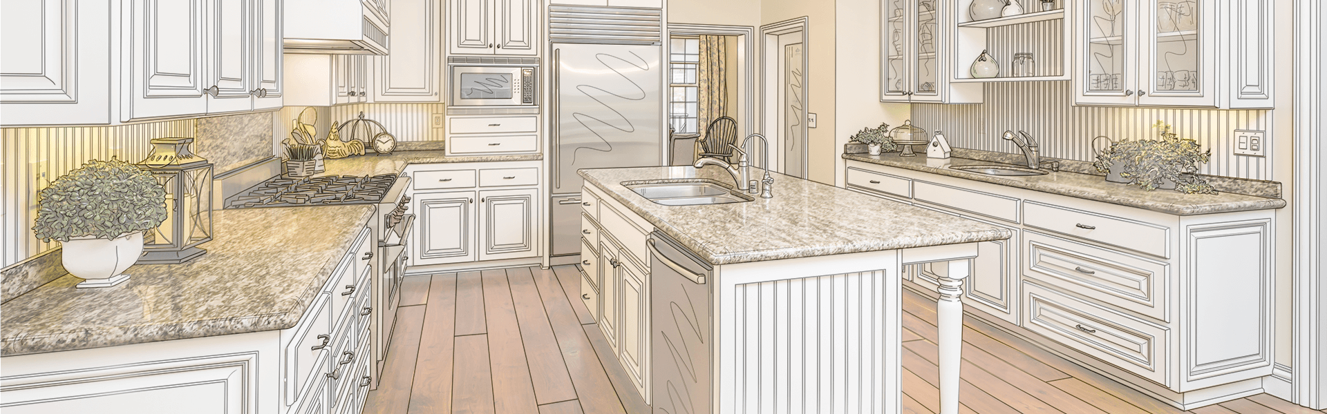 Custom cabinet drawing by Cabinet Depot