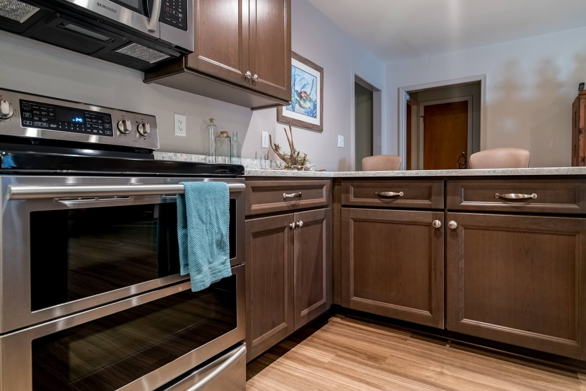 Transitional Style Kitchen cooking and prep area