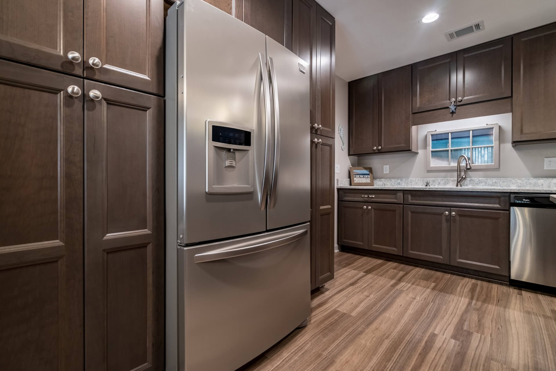 Transitional Style Kitchen refrigerator