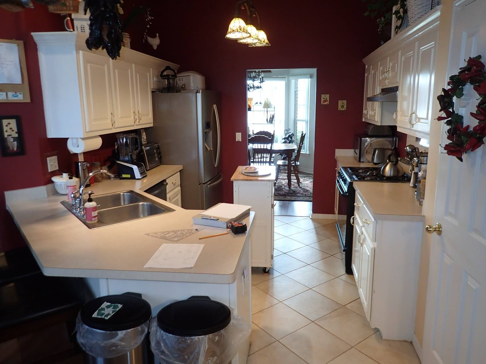 Before: Enclosed kitchen