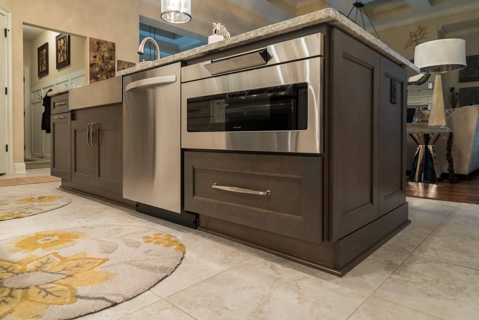 Modern stainless appliances and new Dura Supreme cabinets