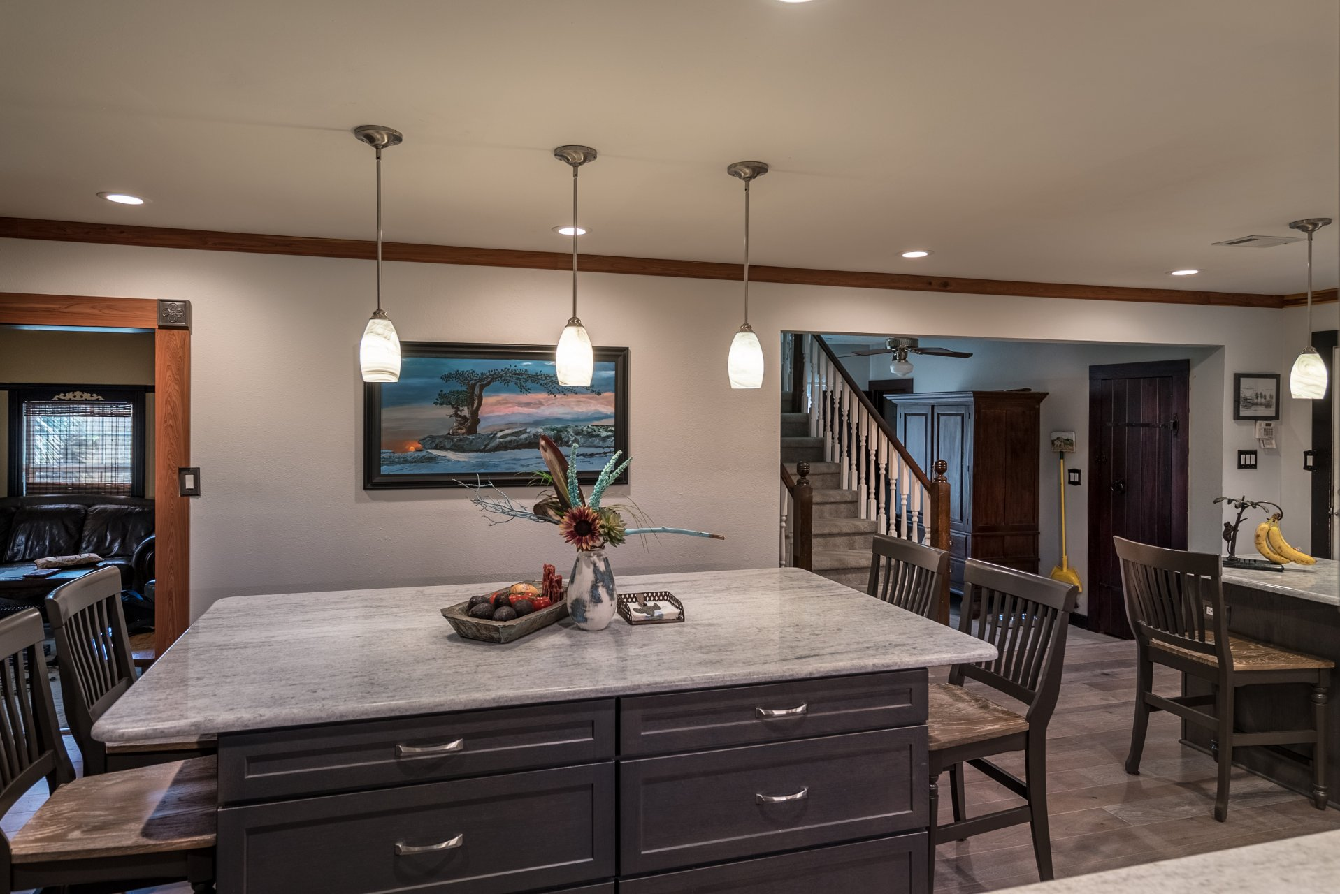 Kitchen and Dining Room Remodel - large island