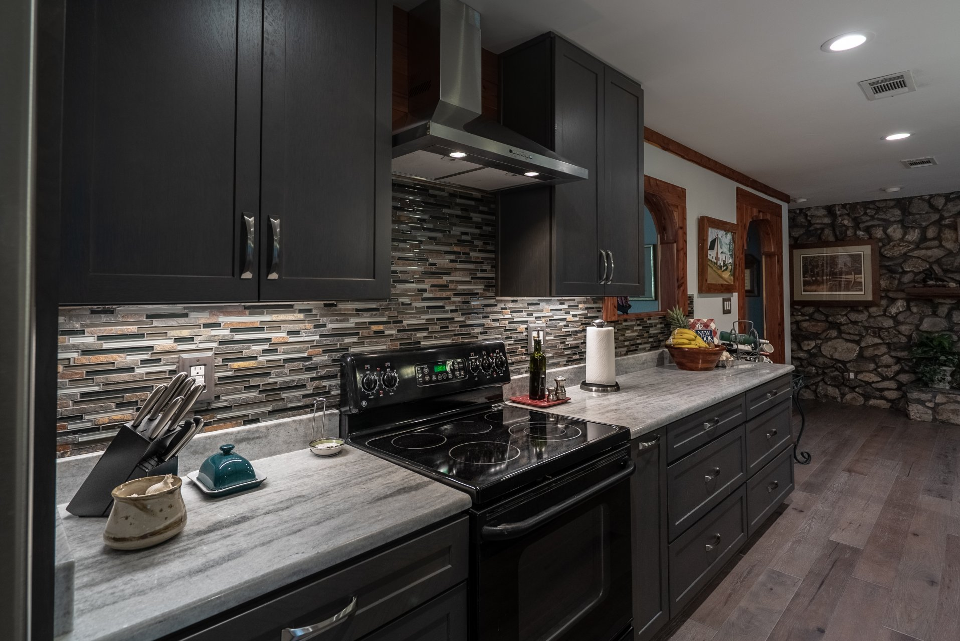 Kitchen and Dining Room Remodel - oak cabinets in Slate