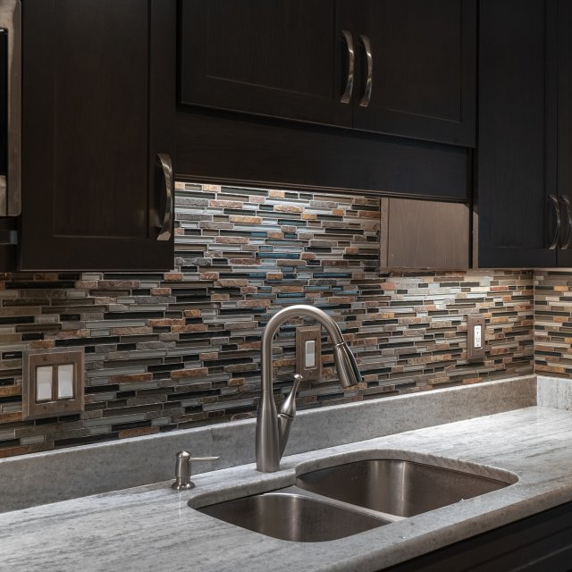 Kitchen and Dining Room Remodel - tile backsplash detail