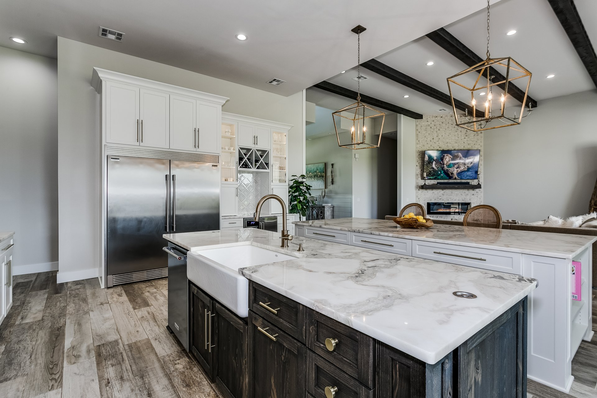 A custom kitchen with beautiful finishes and functional features