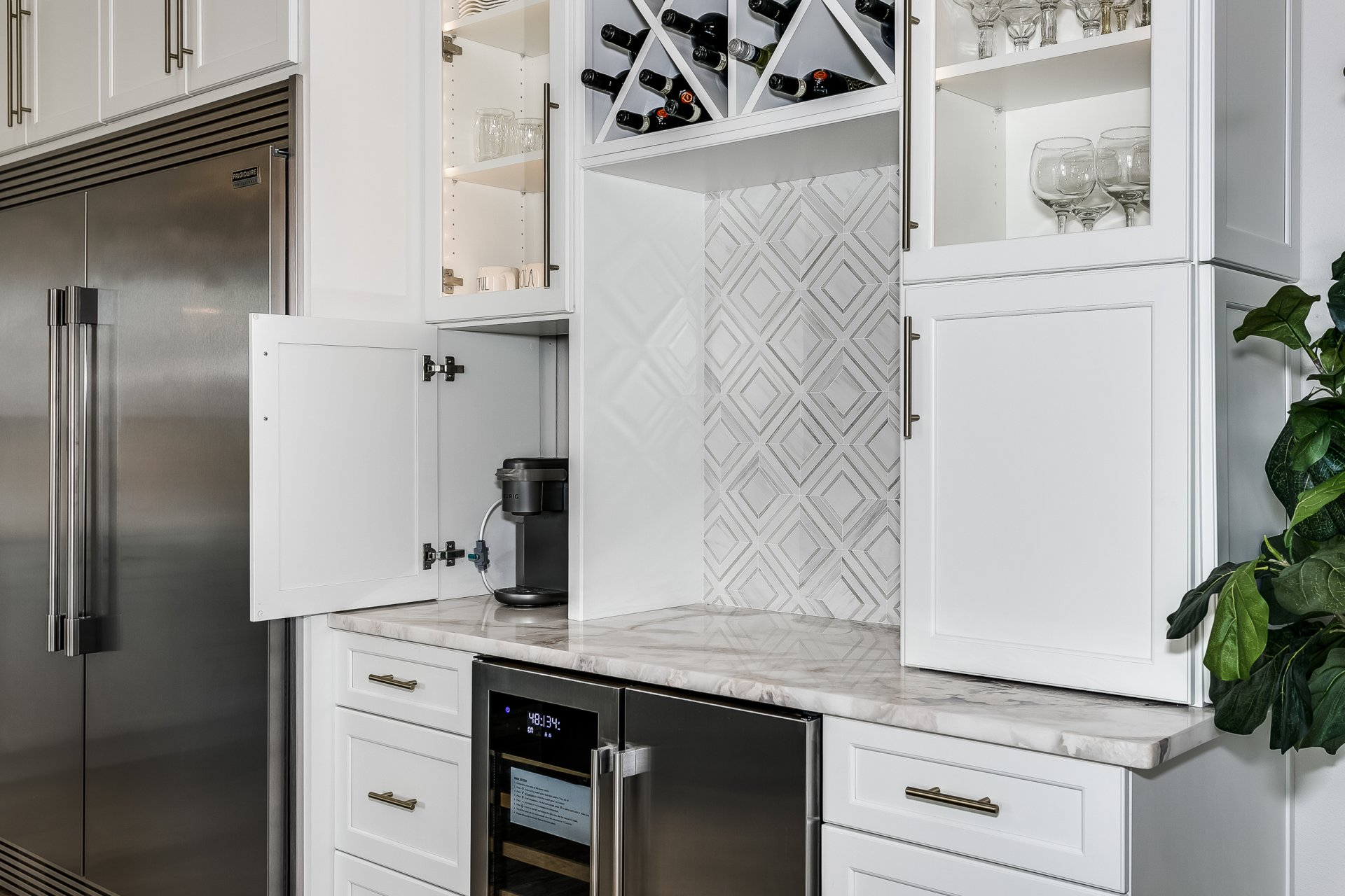 Custom storage for small appliances