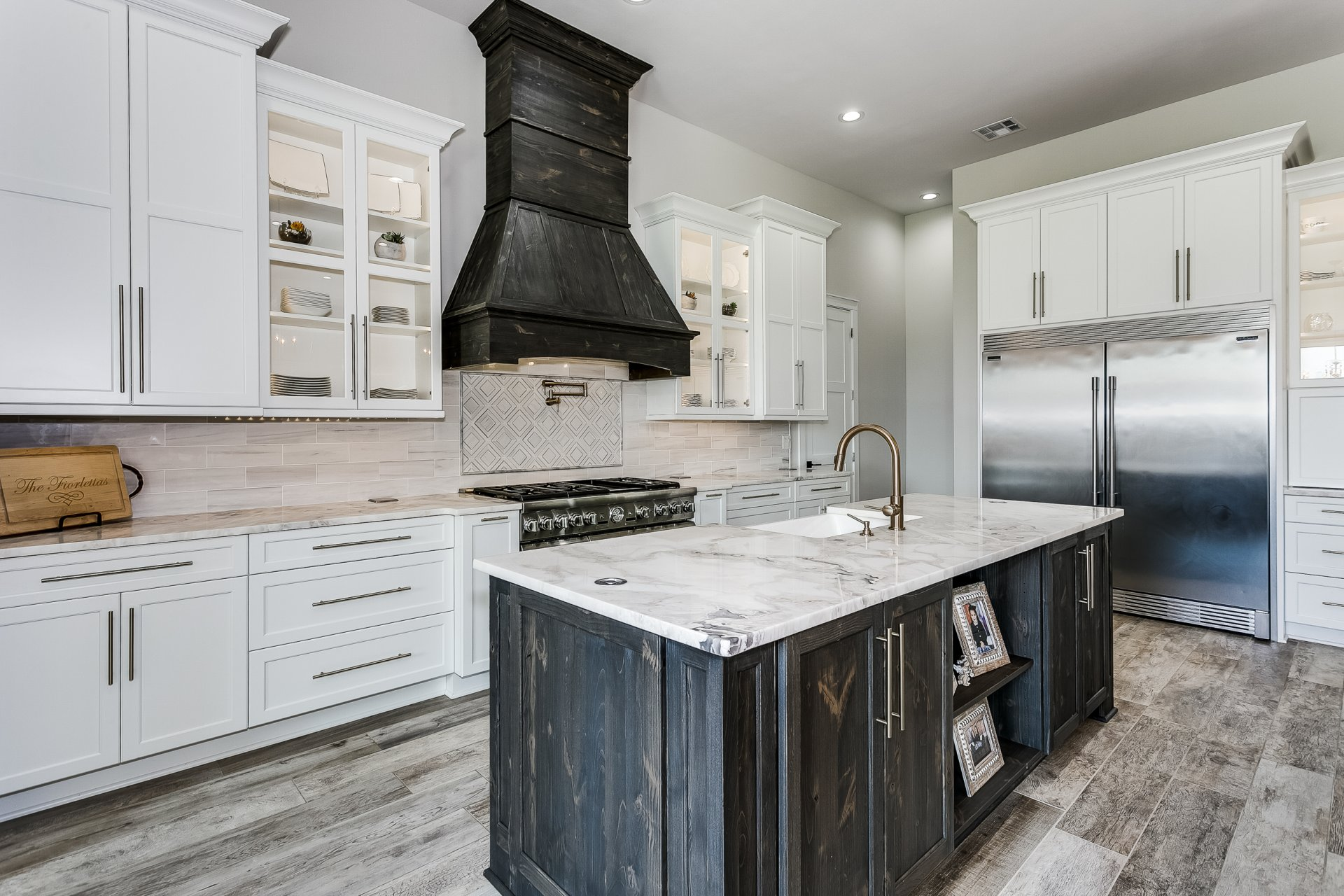 Tons of storage and features in a custom kitchen